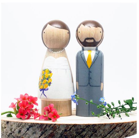 DIY Wedding Cake Toppers