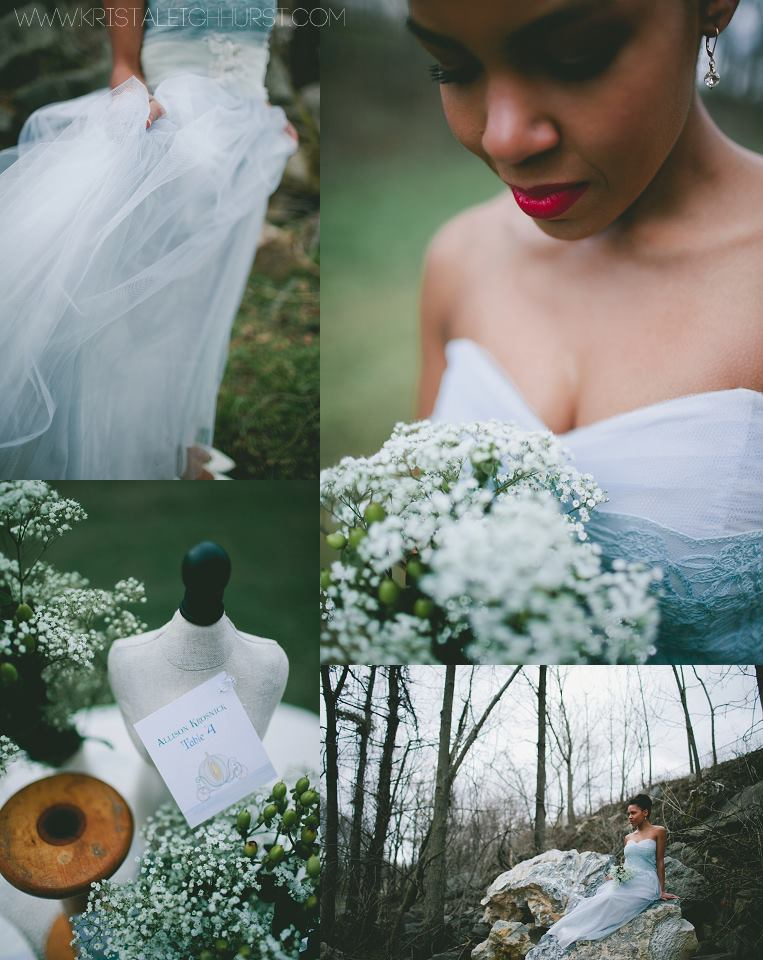 Blue Wedding Gown by Little Miss Lovely Vintage