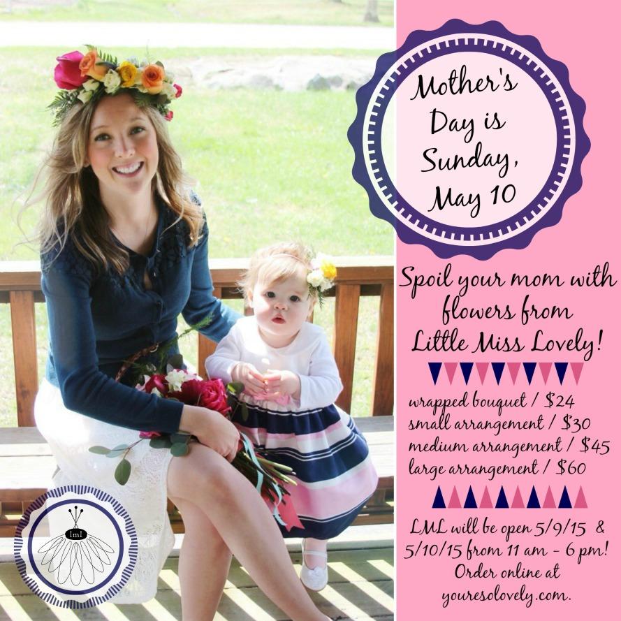 mothers day flower arrangement by little miss lovely // ocean city md florist