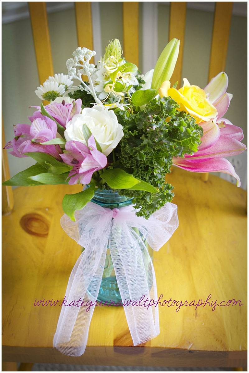 Birthday Flowers Blue Mason Jar Little Miss Lovely