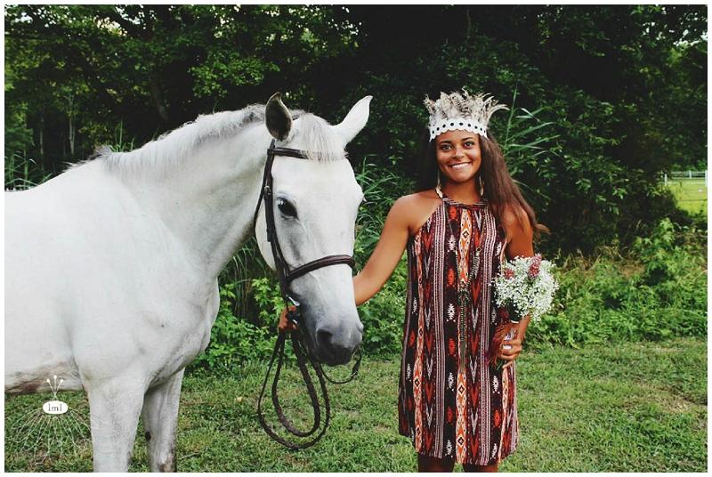 Little Miss Lovely - Bohemian Horse Shoot - Raggamuffin - Florist (19)