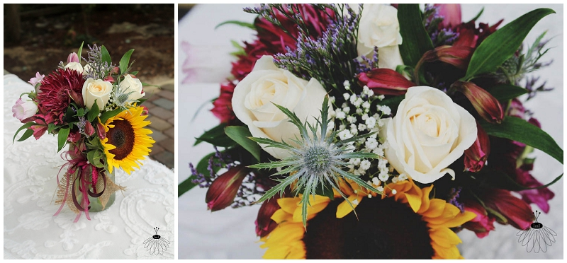 Little Miss Lovely - Sunflower Backyard Wedding Bouquet (1)