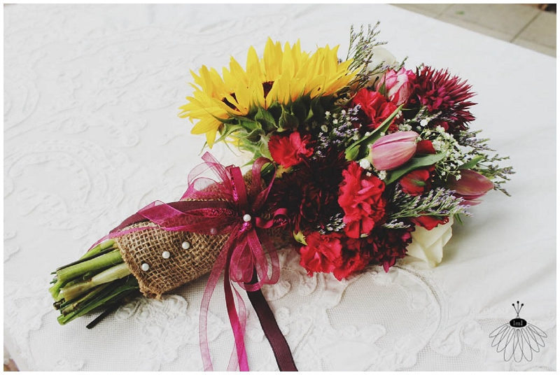 Little Miss Lovely - Sunflower Backyard Wedding Bouquet (2)