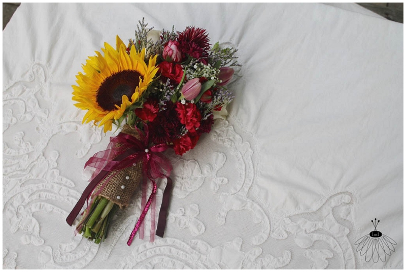 Little Miss Lovely - Sunflower Backyard Wedding Bouquet (6)