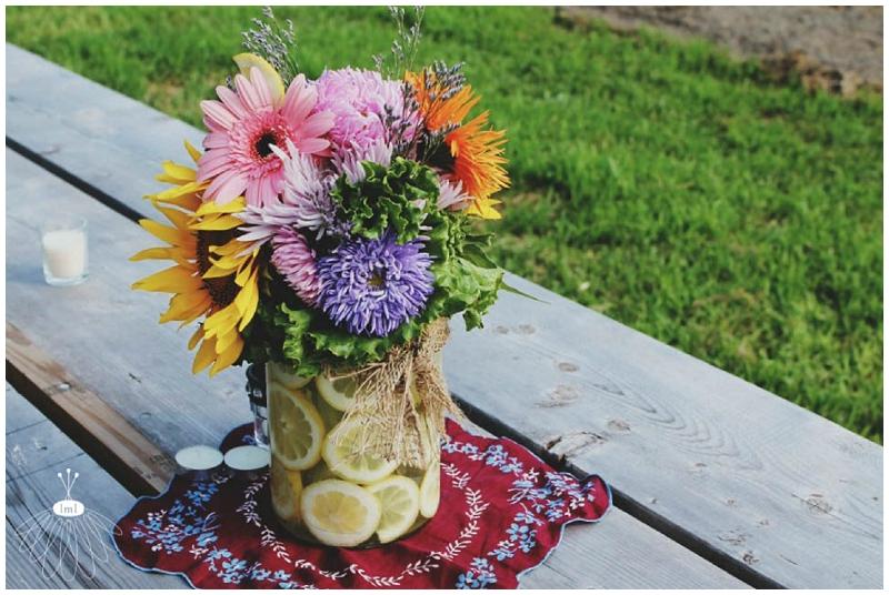 little miss lovely lemon flower arrangement