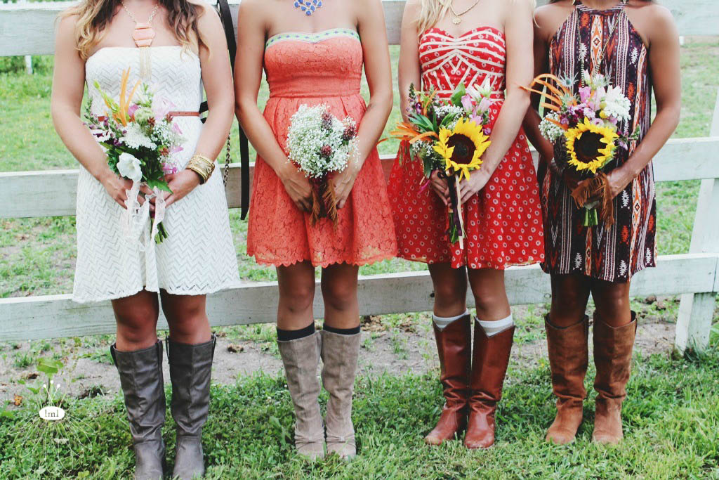 wedding party - boots - farm - little miss lovely