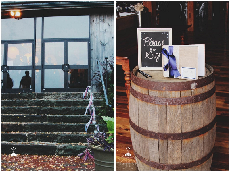 mason jar and whiskey barrel wedding decorations