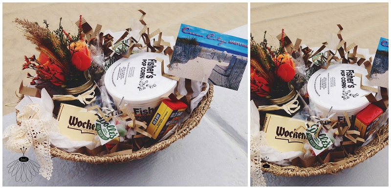ocmd ocean city maryland gift basket by little miss lovely  - welcoming gift