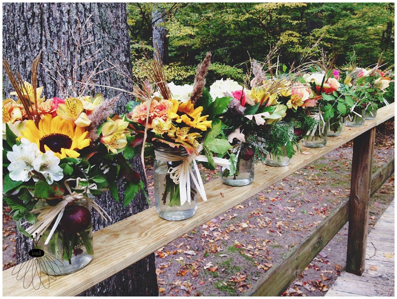 pomegranate rustic autumn fall flower centerpieces - little miss lovely - berlin ocean city md