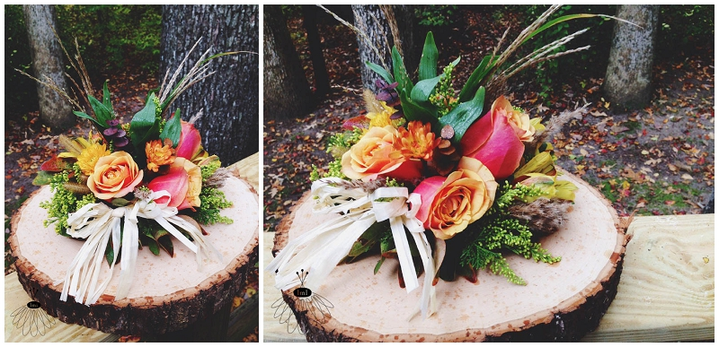 rustic autumn fall cake topper flower arrangement - birthday cake - little miss lovely floral design berlin md