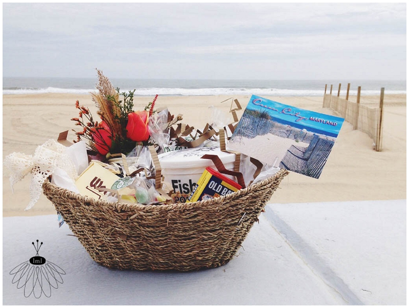 welcome to ocean city md gift basket by little miss lovely
