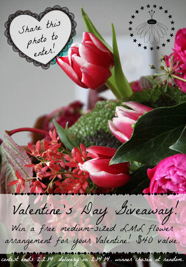 little miss lovely - valentines day flower arrangement giveaway - berlin ocean city md florist-2