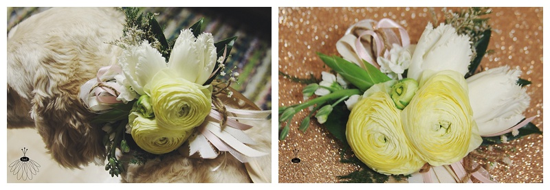 Little Miss Lovely // Dog Collar Wedding Flowers