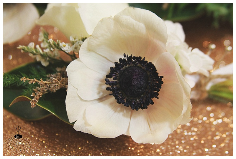 Little Miss Lovely // White Anemone Poppy Groomsmen Boutonnieres Bouts