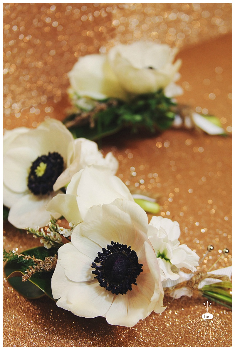 Little Miss Lovely // White Poppy Anemone Wedding Groom Boutonniere Bouts
