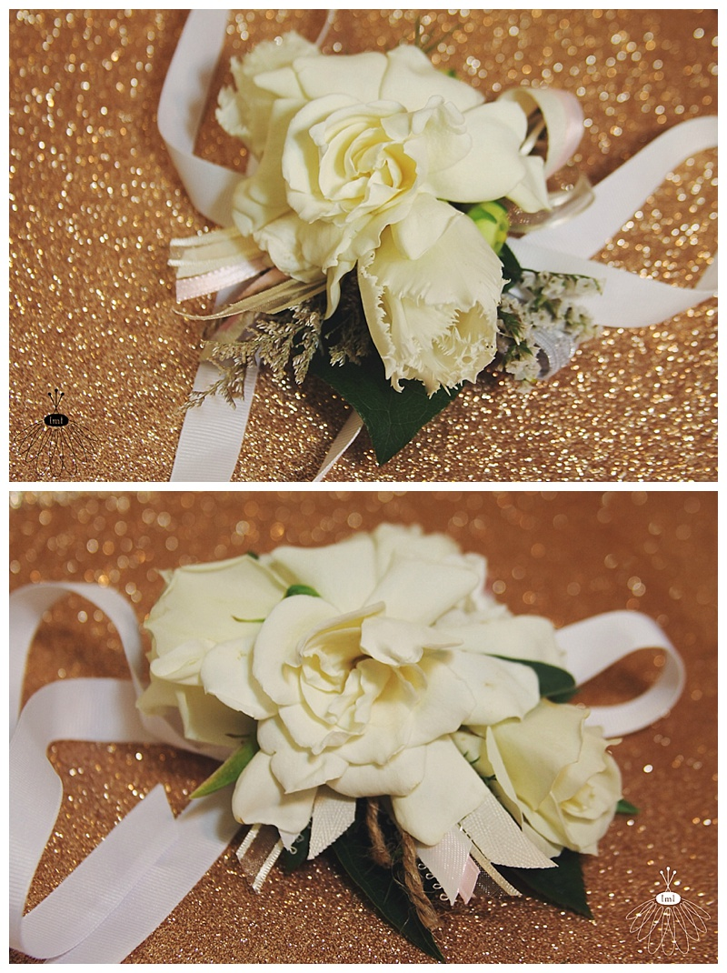 Little Miss Lovely // White Ivory Gardenia Tulip Wedding Wrist Corsages