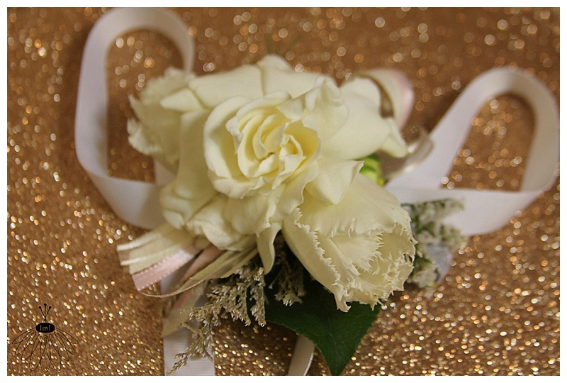 Little Miss Lovely // White Gardenia Tulip Wrist Corsage
