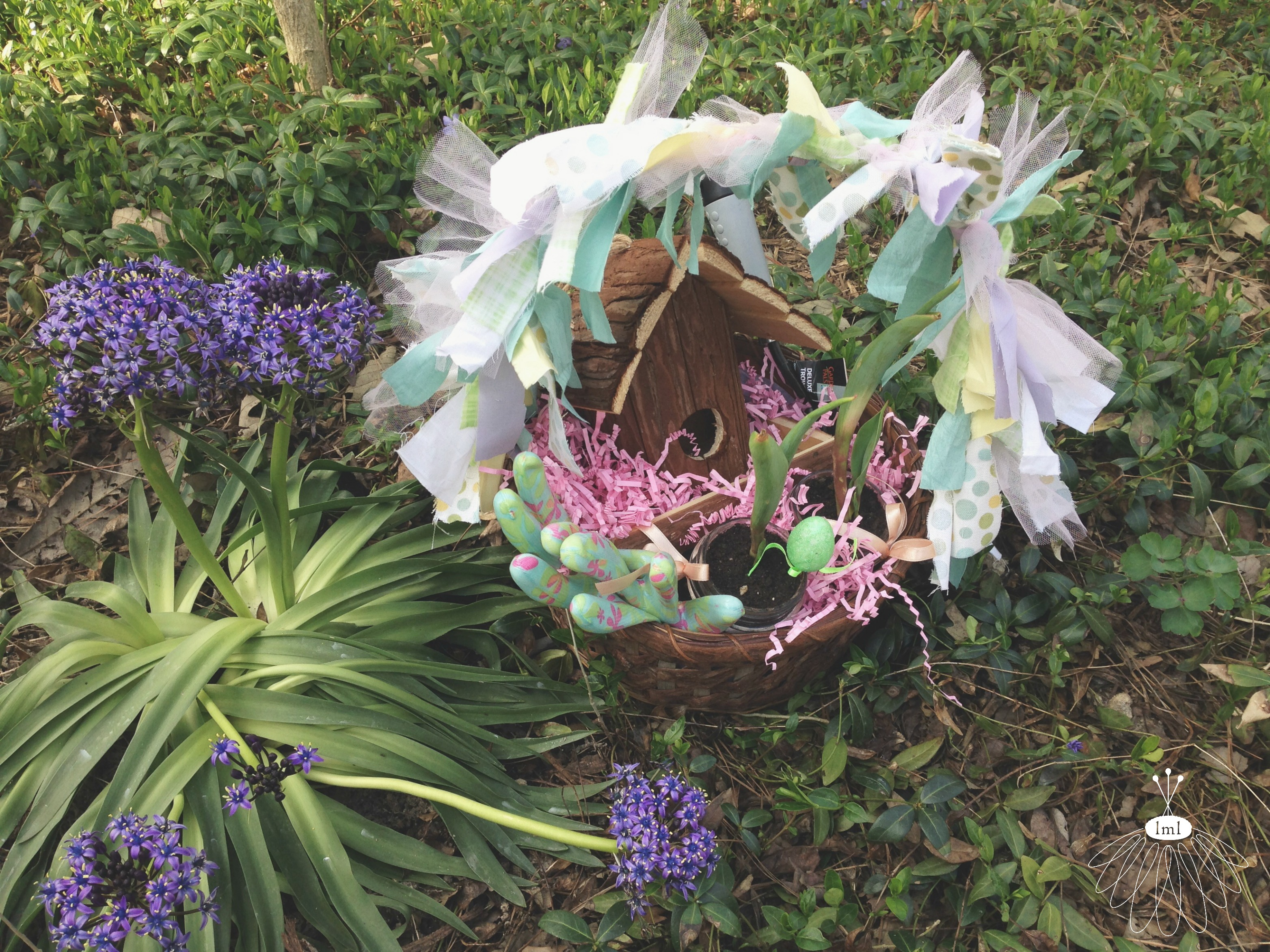 little miss lovely // gardener's easter basket