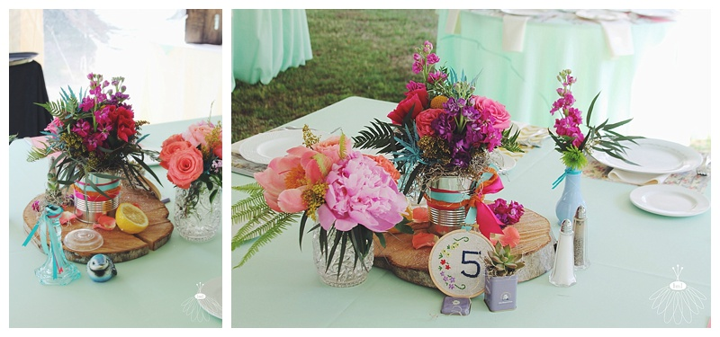 Colorful Spring Wedding Flowers by Little Miss Lovely // J + T Wedding // Mardella Springs, MD