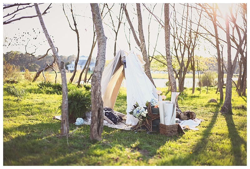 Woodsy Bohemian Spring Styled Bridal Shoot // Little Miss Lovely // Tent Photo Shoot