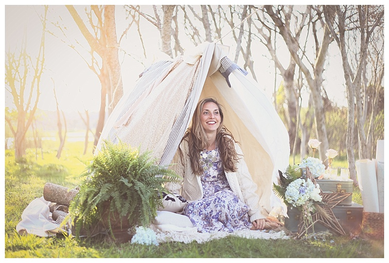 Woodsy Bohemian Spring Styled Bridal Shoot // Little Miss Lovely