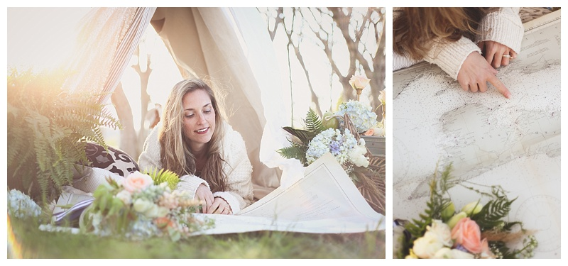 Woodsy Bohemian Spring Styled Bridal Shoot // Little Miss Lovely // Page Watts Rogers