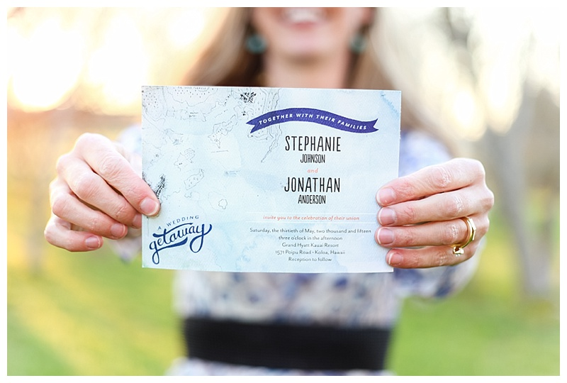 Woodsy Bohemian Spring Styled Bridal Shoot // Little Miss Lovely // Wedding Invitations with Map Watercolor