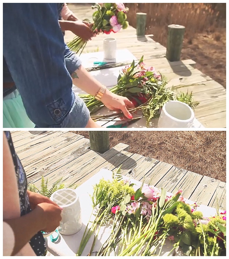 DIY Flower Arrangement Tutorial // The Blend & Little Miss Lovely // the blend.tv