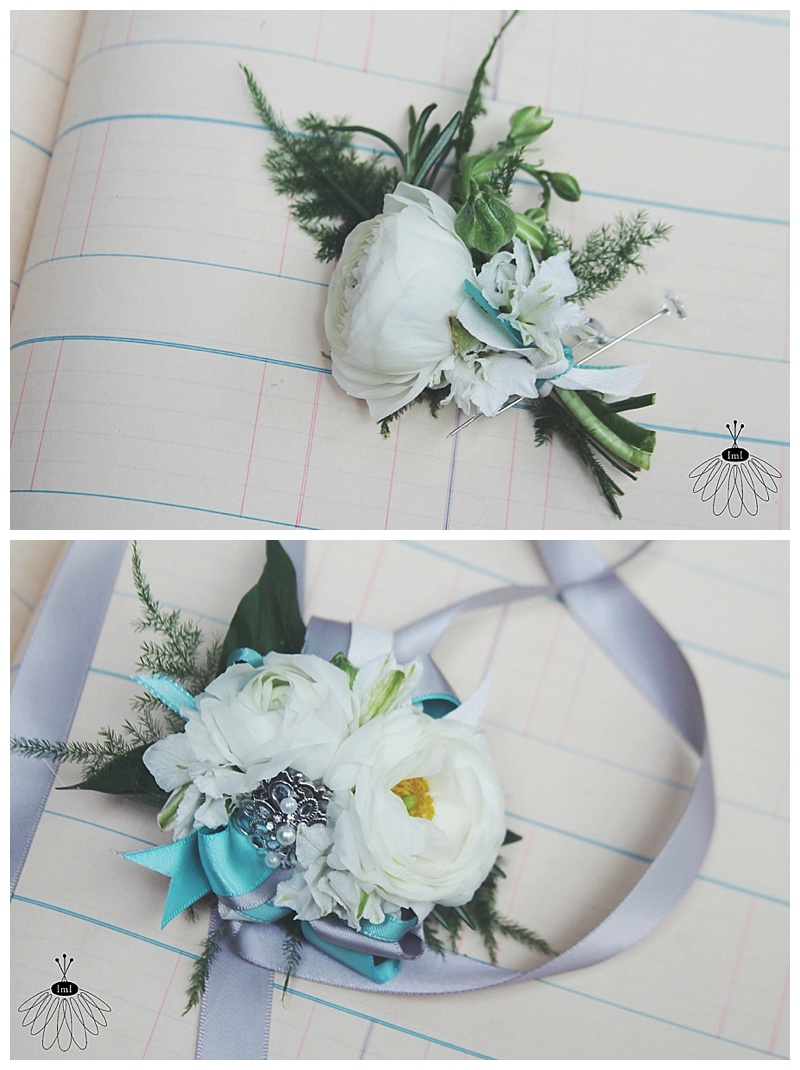prom wrist corsage & boutonniere // little miss lovey