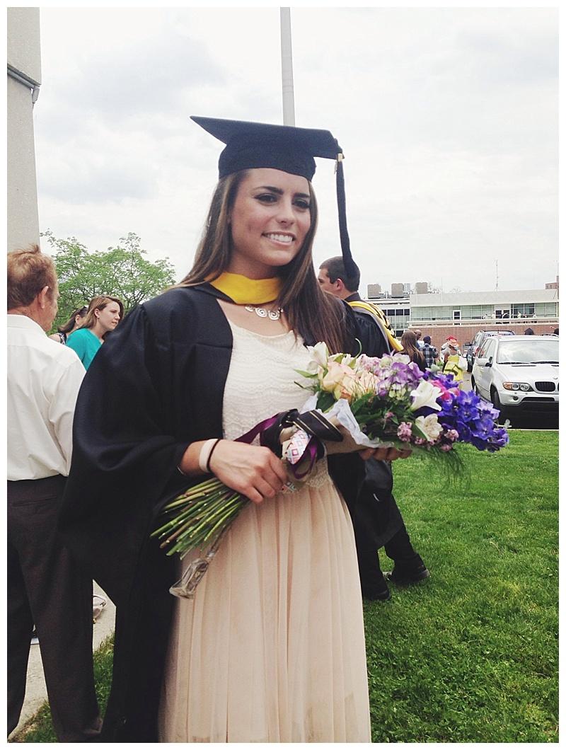 graduation presentation bouquet // little miss lovely // millersville university