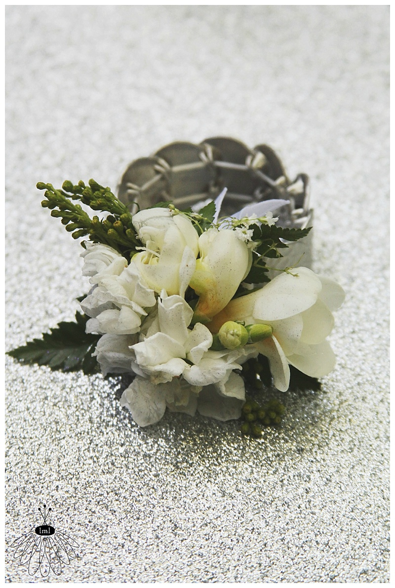 little miss lovely // grandmother wrist corsage // freesia // ocean city md wedding florist