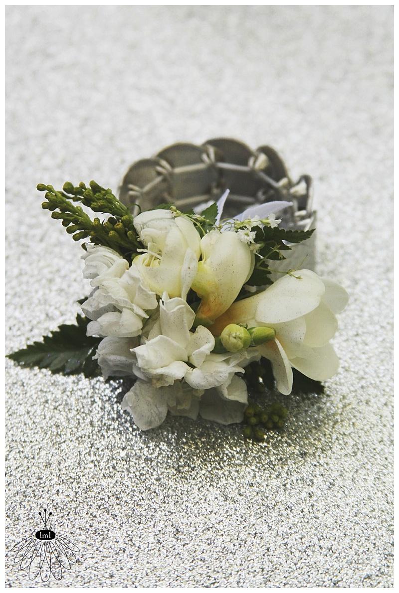 little miss lovely // grandmother wrist corsage // freesia // ocean city md wedding florist