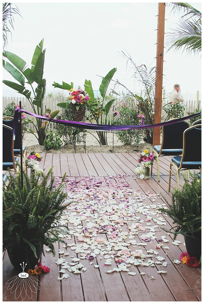 little miss lovely // ocean city md wedding florist // clarion resort wedding // gerber daisies // rose petal aisle