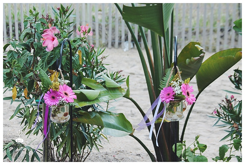 little miss lovely // ocean city md florist // clarion resort wedding // ceremony backdrop
