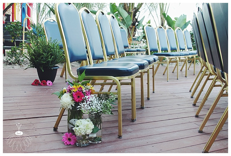 little miss lovely // ocean city md wedding florist // clarion wedding // pew row flowers