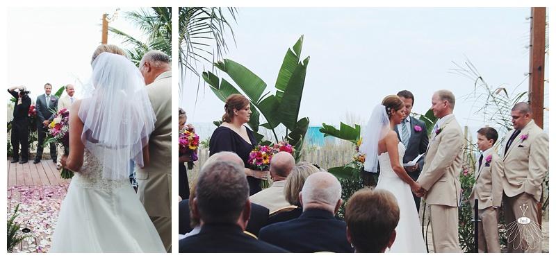 little miss lovely // ocean city md wedding florist // pink yellow purple gerber daisy bouquets