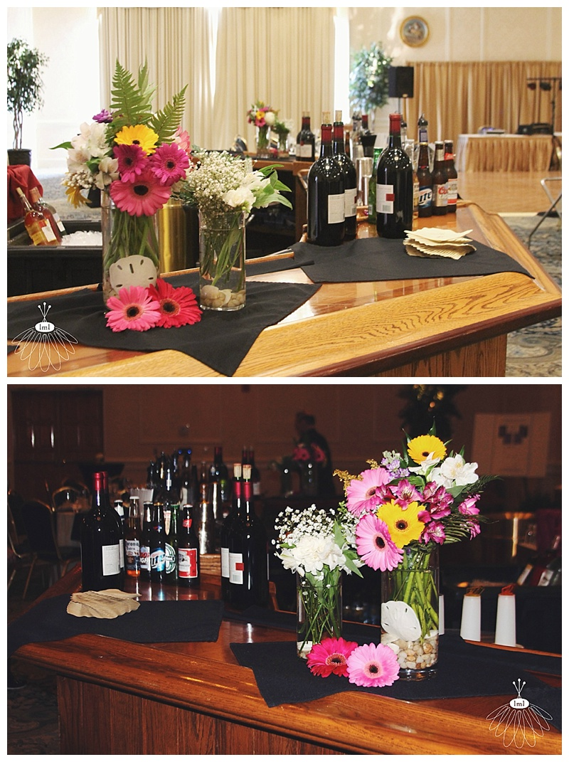 little miss lovely // ocean city md wedding florist // clarion hotel wedding // bar reception flowers