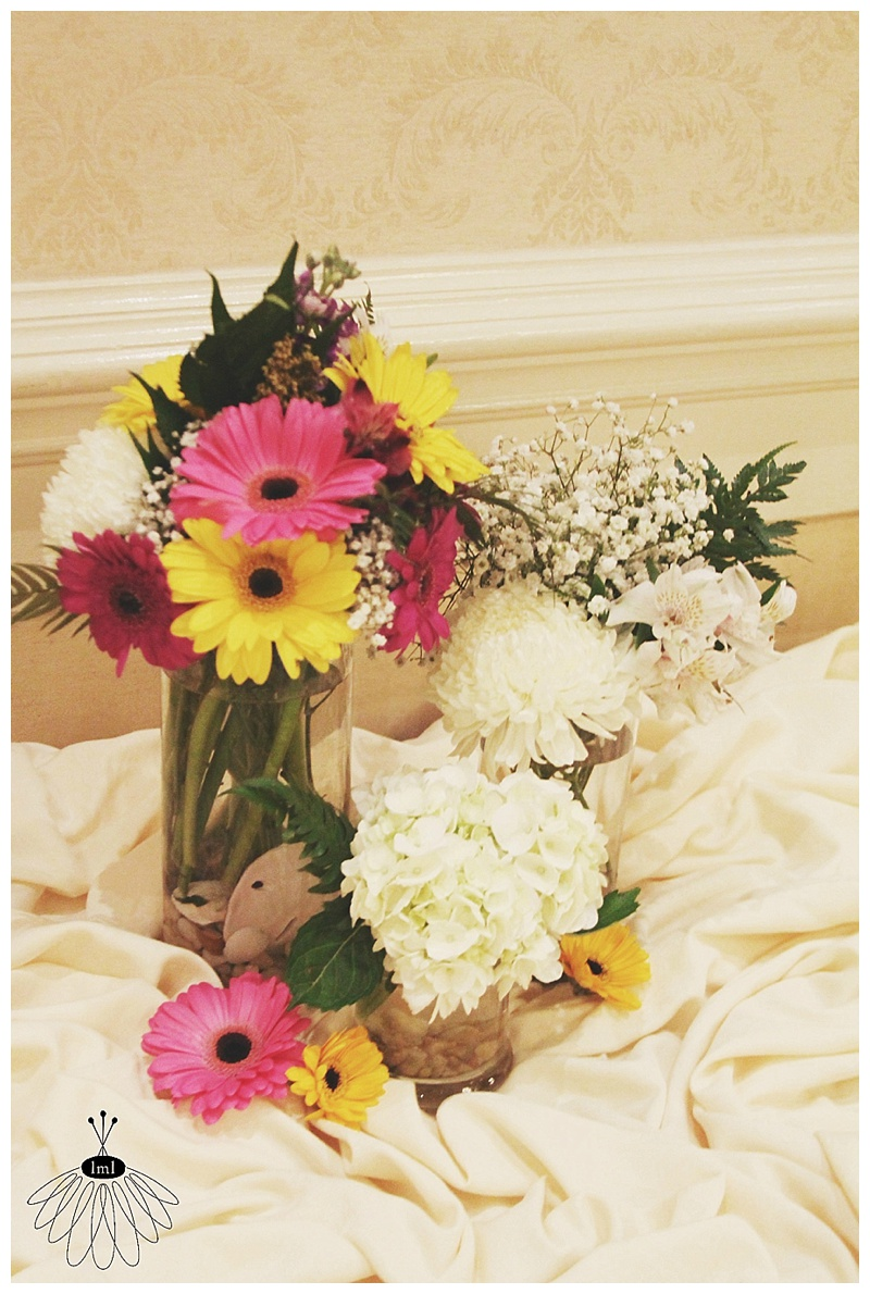 little miss lovely // ocean city md wedding florist // clarion hotel wedding // reception flowers