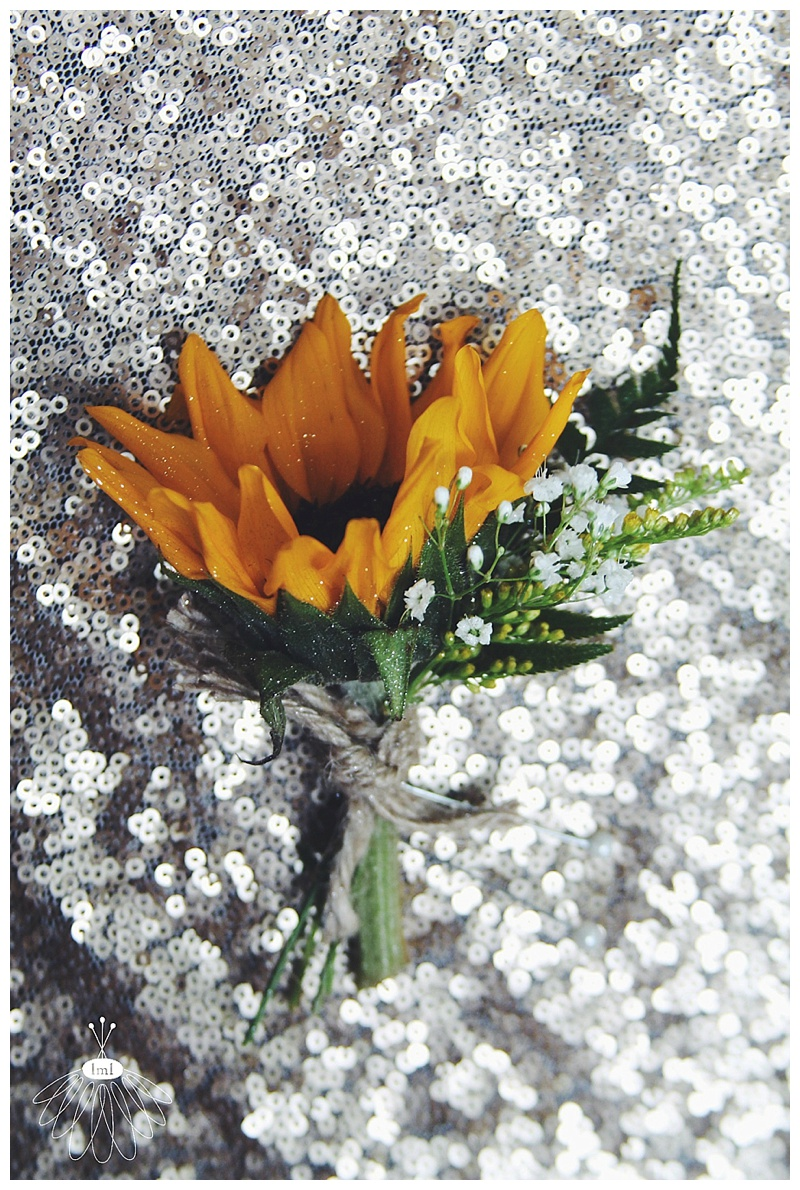 little miss lovely // rustic country sunflower boutonniere // salisbury, md