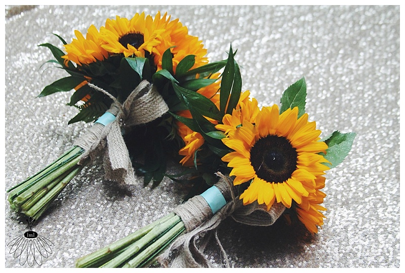 little miss lovely // sunflowers, baby's breath, mint rustic wedding bouquet // salisbury, md