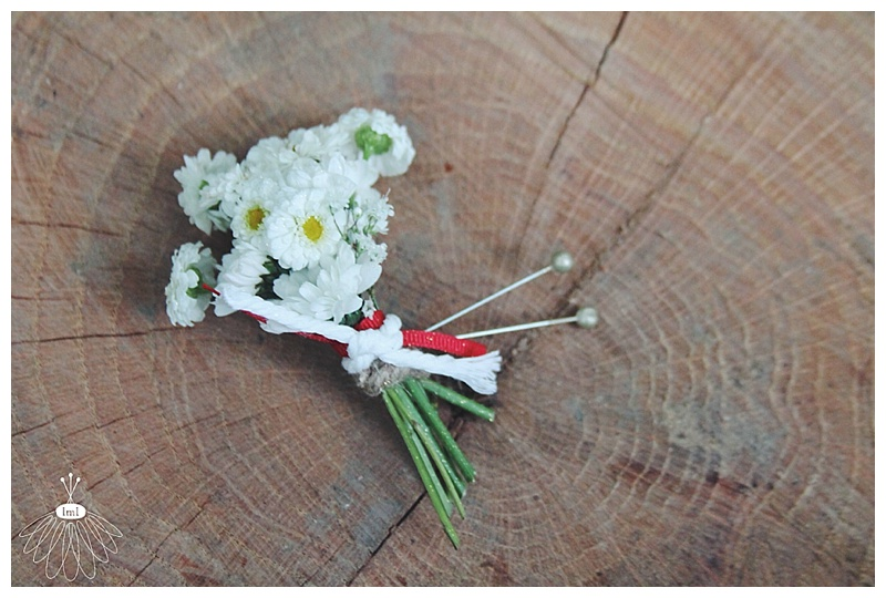 little miss lovely // nautical red white blue wedding // berlin md // wedding florist // daisy boutonniere