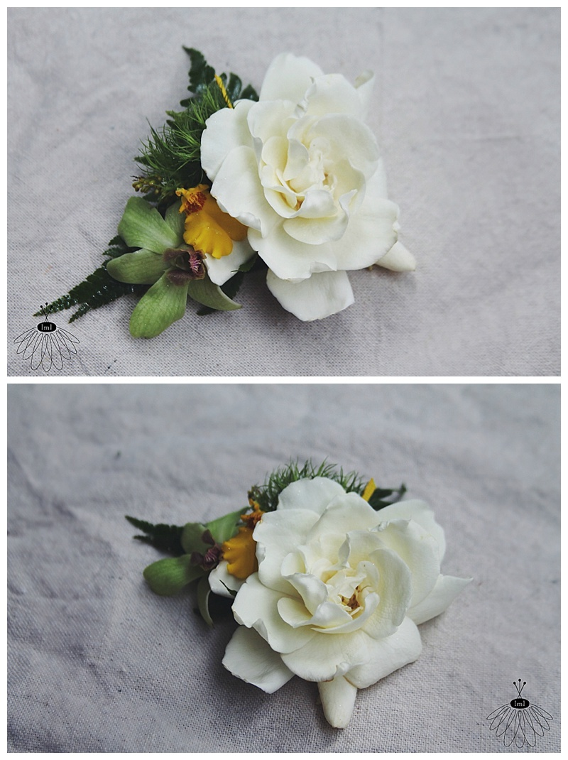 little miss lovely // white gardenia hair flowers for bride // seacrets wedding