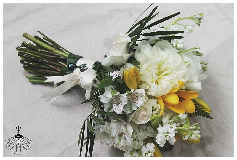 little miss lovely // wedding florist // ocean city, md // seacrets wedding // tropical beach wedding // yellow white bouquet