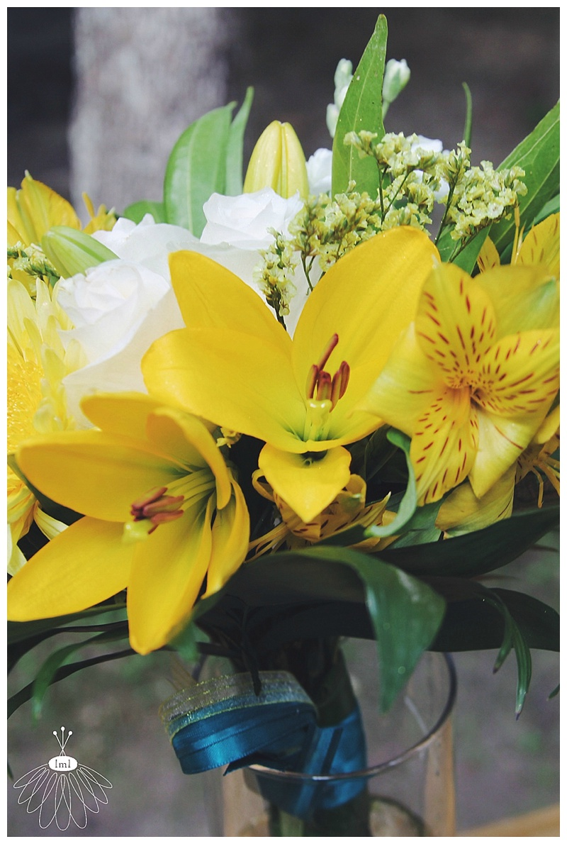 little miss lovely // ocean city md florist // wedding florist // beach wedding // yellow lily bouquets