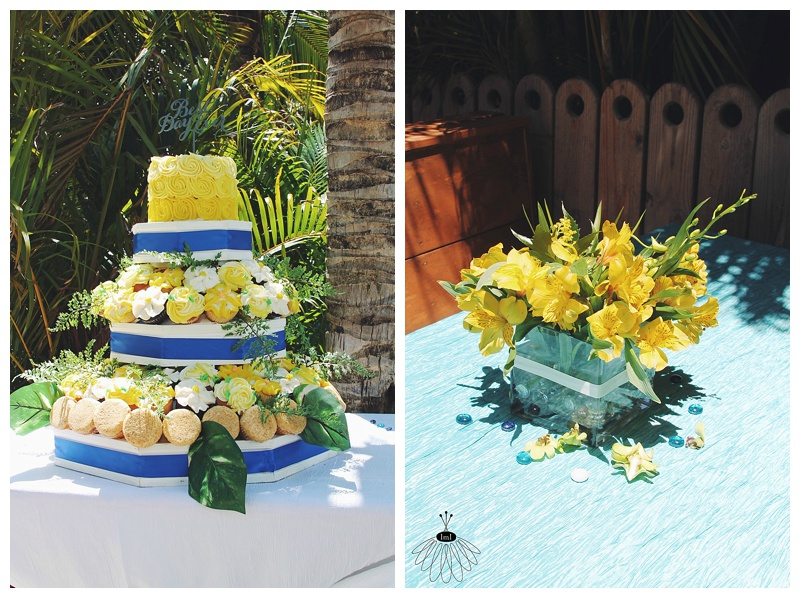little miss lovely // wedding florist // beach wedding // seacrets // ocean city, md // cupcakes in bloom