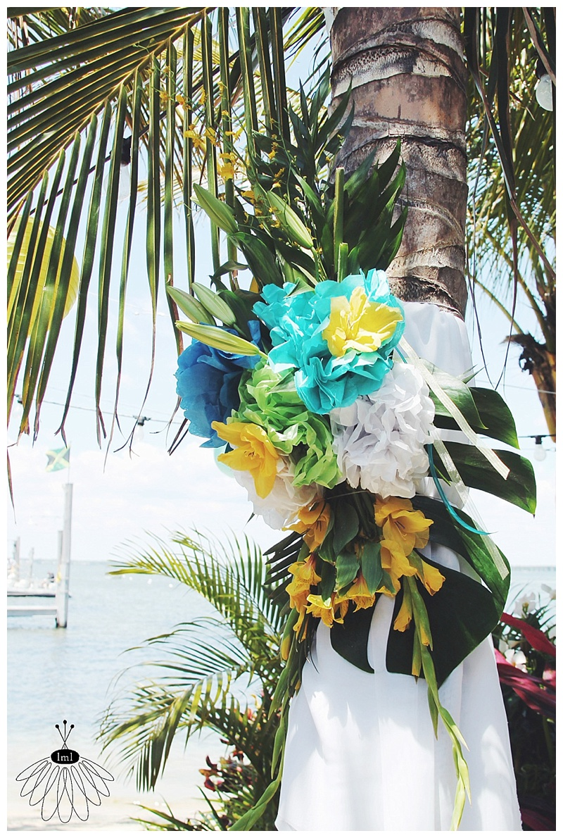little miss lovely // wedding florist // ocean city, md // seacrets wedding // tropical beach wedding