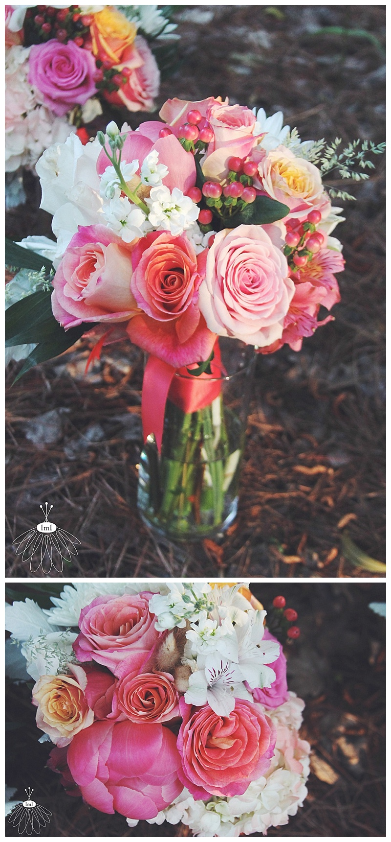 little miss lovely // ocean city, md wedding florist // beach wedding // coral & white