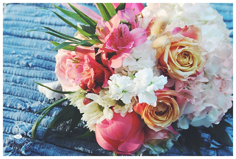 little miss lovely // ocean city, md wedding florist // beach wedding // coral & white bouquets