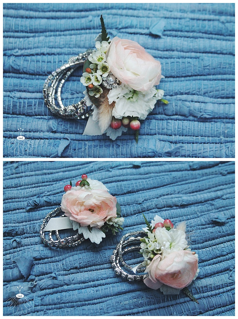 little miss lovely // ocean city, md wedding florist // beach wedding // coral ranunculus wrist corsage