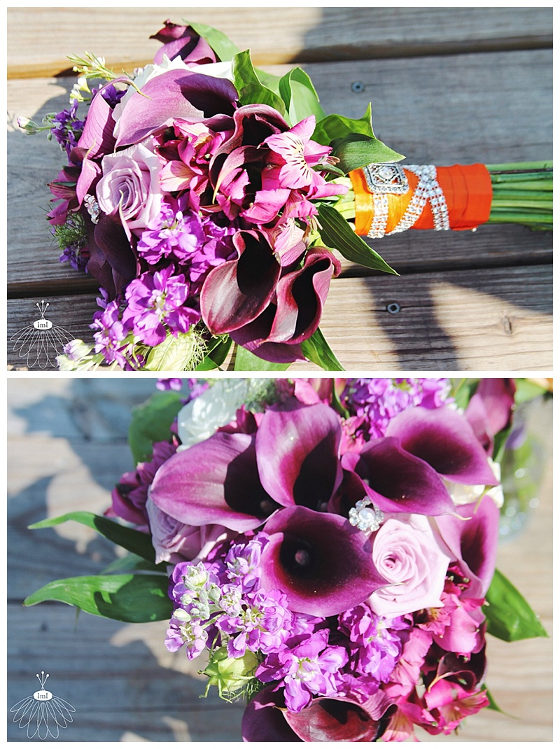 little miss lovely // wedding florist // baltimore md wedding // calla lily bouquets // purple calla lily bouquet